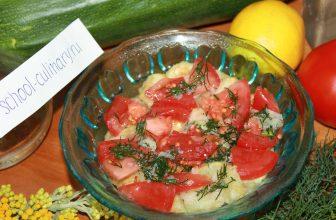 Салат из жареных кабачков