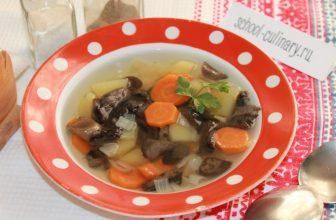 Варим суп из замороженных лесных грибов