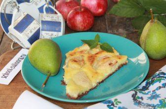 Яблочно грушевый пирог