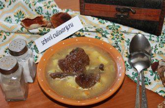 Варим грибной суп с рисом