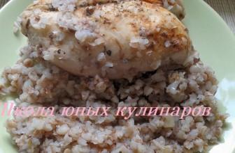 Простая гречка с куриной грудкой в мультиварке