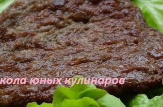 Простые оладьи из говяжьей печени