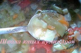 Овощной суп на курином бульоне — просто и вкусно