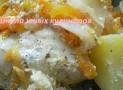 Простая треска (филе) с картошкой в мультиварке
