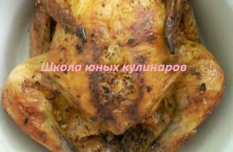 Простая курица в пакете для запекания в духовке