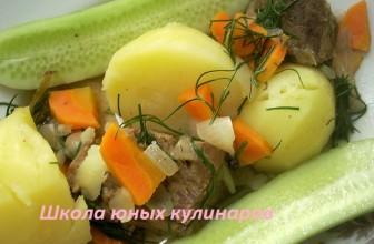 Жаркое по-домашнему из говядины и картофеля