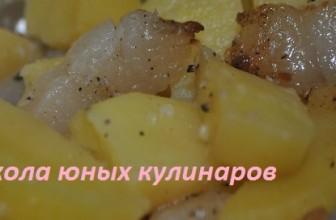 Простой картофель в фольге с салом